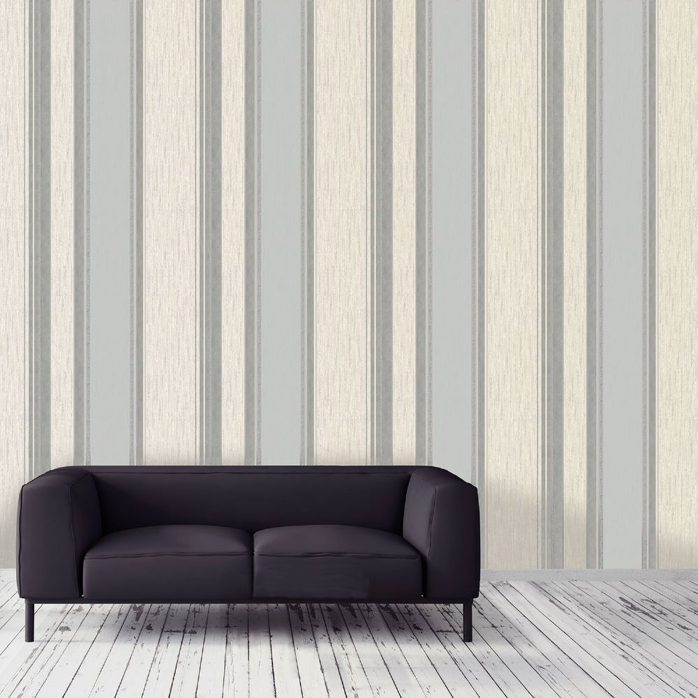 Crown Synergy Dove Grey Stripe M0853 Wallpaper